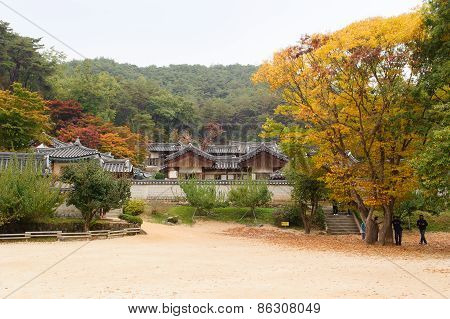 Andong, Korea - October 24, 2010: Dosan Seowon