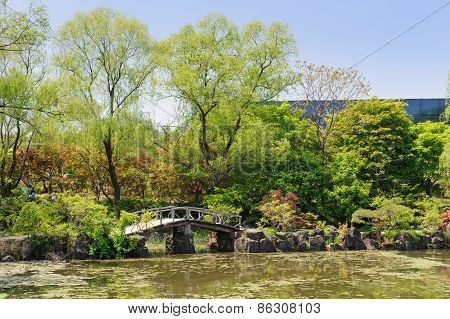 Paju, Korea - May 16, 2011: Landscape Of Byeokchoji Botanical Garden