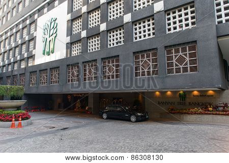 Bangkok, Thailand - December 29, 2012: Banyan Tree Hotel