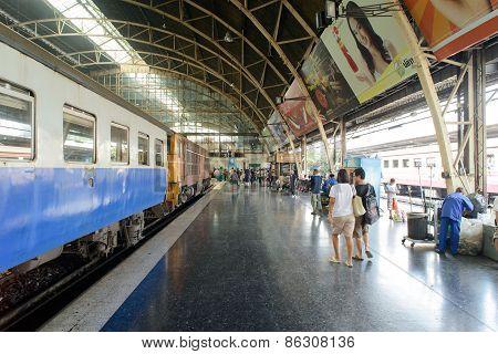 Bangkok, Thailand - December 30, 2012: Inside Of Lamphong Station