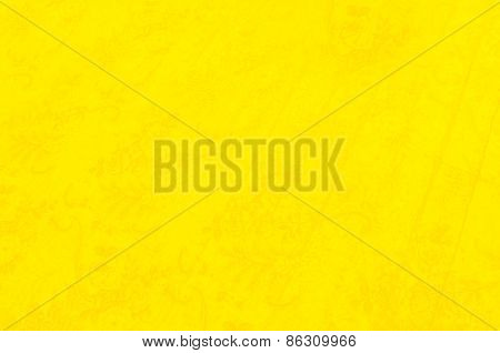 Yellow Background with Flower Pattern