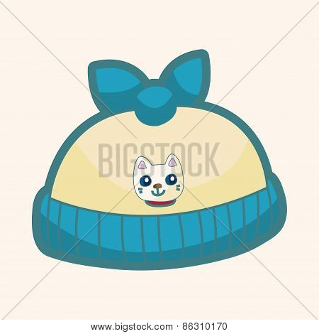 Baby Hat Theme Elements