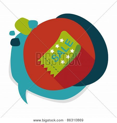 Shopping Sale Coupon Flat Icon With Long Shadow,eps10