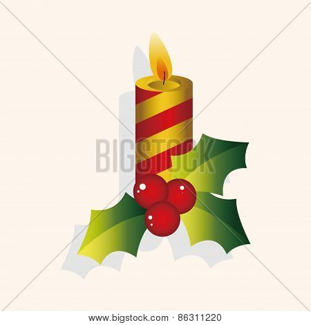 Christmas Candle Theme Elements