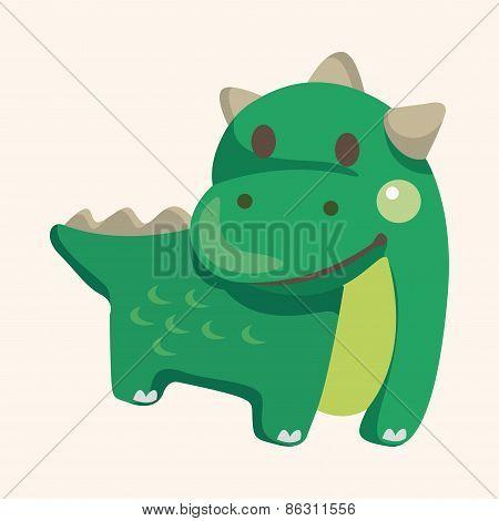 Dinosaur Cartoon Theme Elements