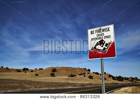 Be Firewise Roadsign