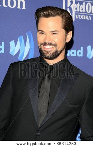 LOS ANGELES - MAR 21:  Andrew Rannells at the 26th Annual GLAAD Media Awards at the Beverly Hilton Hotel on March 21, 2015 in Beverly Hills, CA