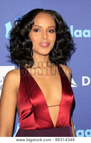 LOS ANGELES - MAR 21:  Kerry Washington at the 26th Annual GLAAD Media Awards at the Beverly Hilton Hotel on March 21, 2015 in Beverly Hills, CA