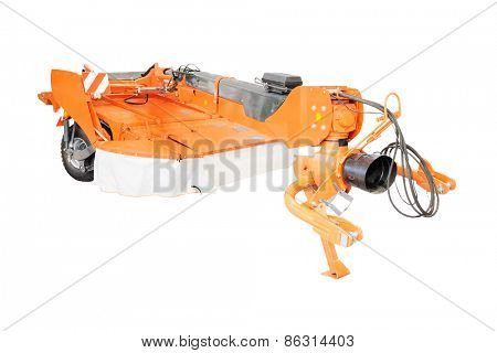 Trailed mower  isolated under the white background