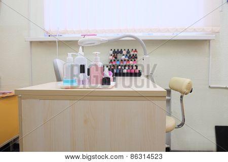 Manicure room interior