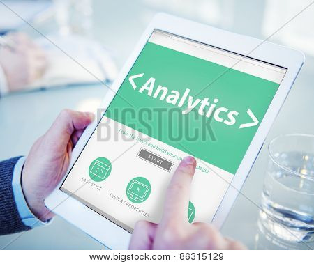 Business Online Analytics Information Office Working Concept