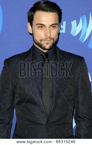 LOS ANGELES - MAR 21:  Jack Falahee at the 26th Annual GLAAD Media Awards at the Beverly Hilton Hotel on March 21, 2015 in Beverly Hills, CA