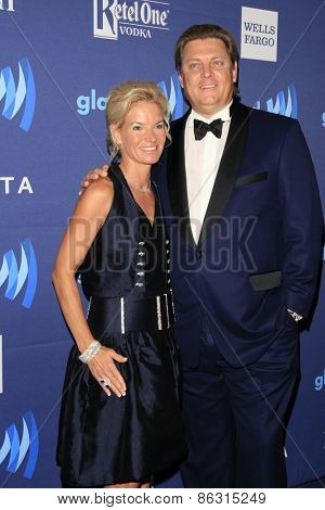 LOS ANGELES - MAR 21:  Janet Nolet, Carl Nolet Jr. at the 26th Annual GLAAD Media Awards at the Beverly Hilton Hotel on March 21, 2015 in Beverly Hills, CA