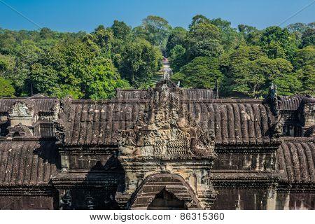 rooftop Angkor Wat temple Cambodia