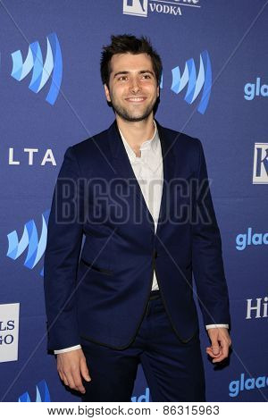 LOS ANGELES - MAR 21:  Freddie Smith at the 26th Annual GLAAD Media Awards at the Beverly Hilton Hotel on March 21, 2015 in Beverly Hills, CA