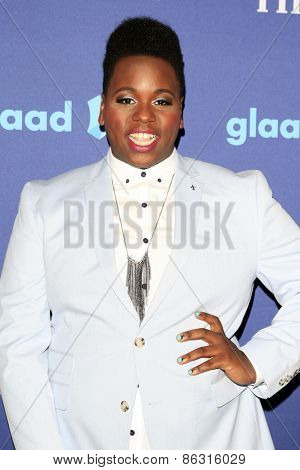 LOS ANGELES - MAR 21:  Alex Newell at the 26th Annual GLAAD Media Awards at the Beverly Hilton Hotel on March 21, 2015 in Beverly Hills, CA