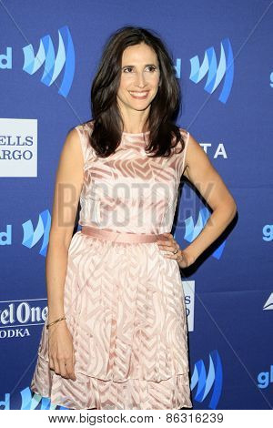 LOS ANGELES - MAR 21:  Michaela Watkins at the 26th Annual GLAAD Media Awards at the Beverly Hilton Hotel on March 21, 2015 in Beverly Hills, CA