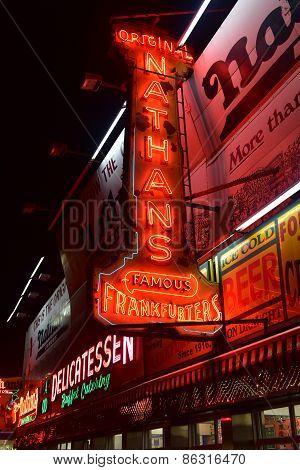 Original Nathan's Frankfurters - Coney Island, Brooklyn, Ny