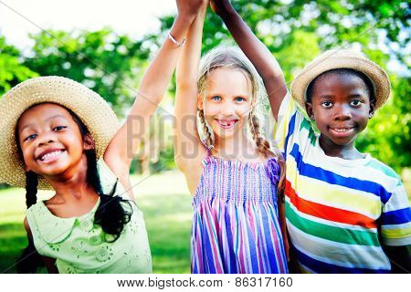 Diversity Children Childhood Friendship Cheerful Concept