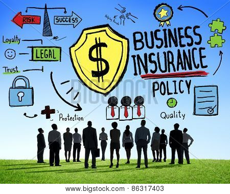 Crowd People Team Safety Risk Business Insurance Concept
