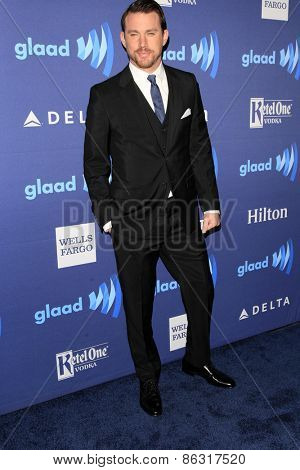 LOS ANGELES - MAR 21:  Channing Tatum at the 26th Annual GLAAD Media Awards at the Beverly Hilton Hotel on March 21, 2015 in Beverly Hills, CA