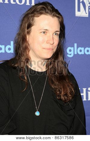 LOS ANGELES - MAR 21:  Laura Jane Grace at the 26th Annual GLAAD Media Awards at the Beverly Hilton Hotel on March 21, 2015 in Beverly Hills, CA