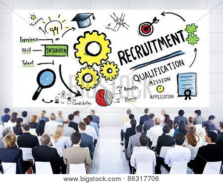 Business People Seminar Recruitment Presentation Concept