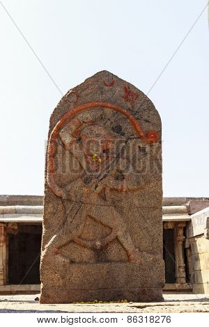 A beautiful statue of Lord Hanuman captured at Lepakshi, Andhra Pradesh, India