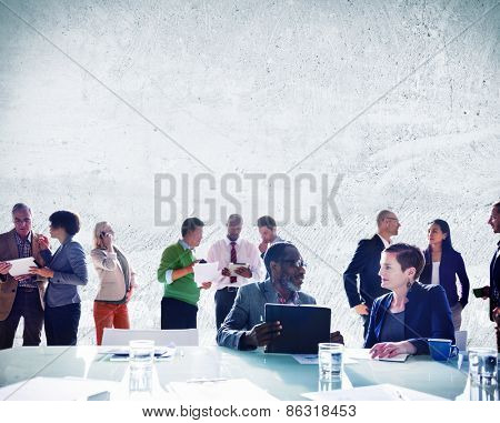 Business People Discussing Work Communication Concept