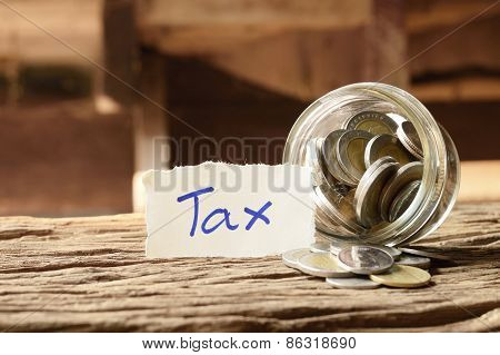 Word Tax With Money