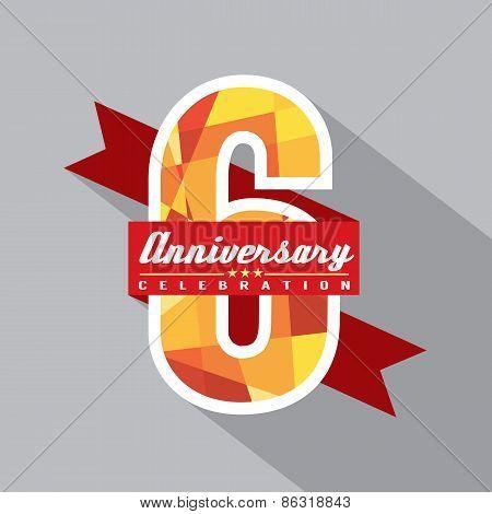 6Th Years Anniversary Celebration Design.