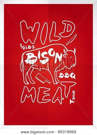 Wild Bison Meat