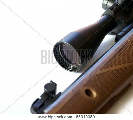 Modern military sniper rifle isolated on white