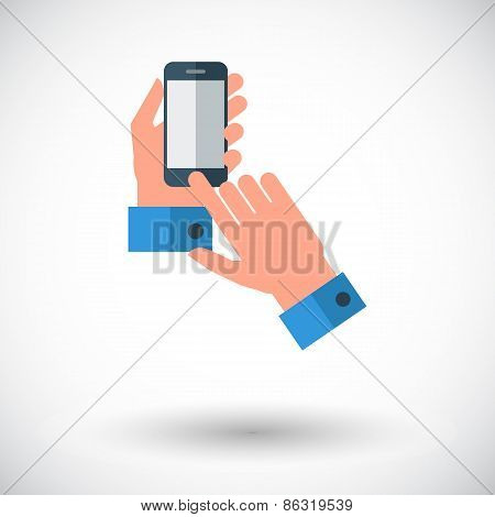Hands holding Mobile phone