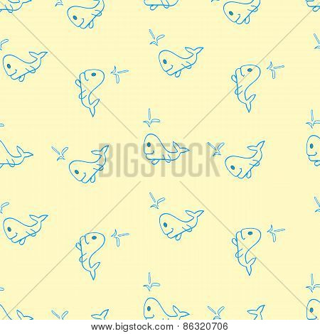 The Pattern Of Whales Beige