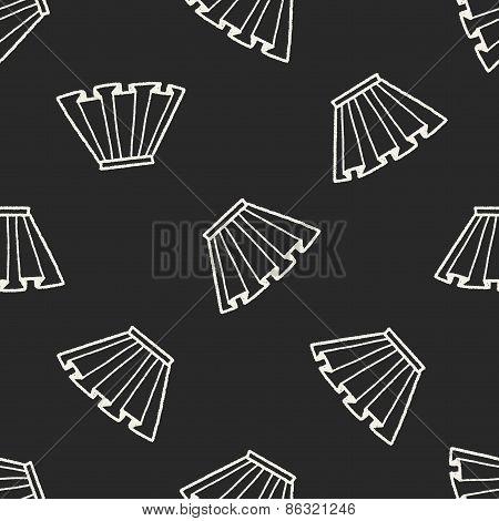 Doodle Pleated Skirt