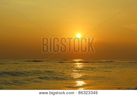 Colorful sunset in the Indian ocean
