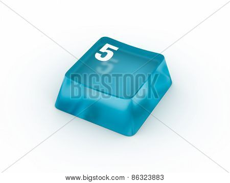 Keyboard button with number FIVE
