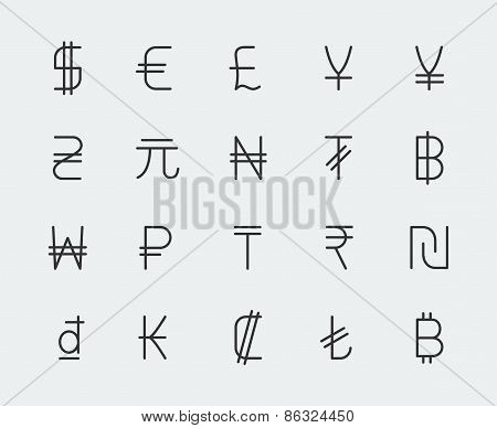 Currency Vector Icons Set