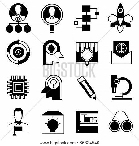 business start up concept icons