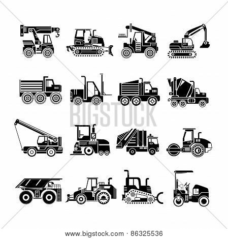 heavy machinery icons