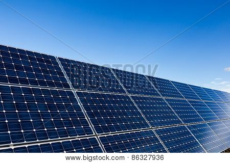 Photovoltaic Solar Panels And Clear Sky