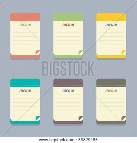 Flat Design Colorful Memo.