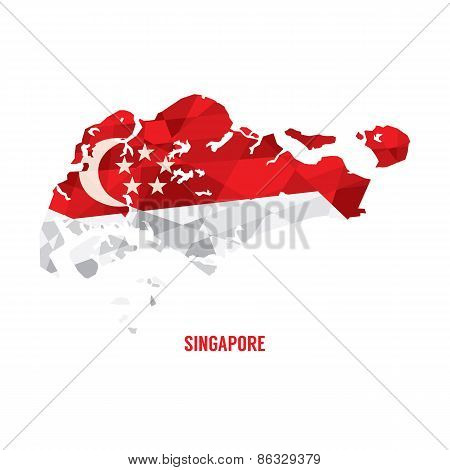 Map Of Singapore.