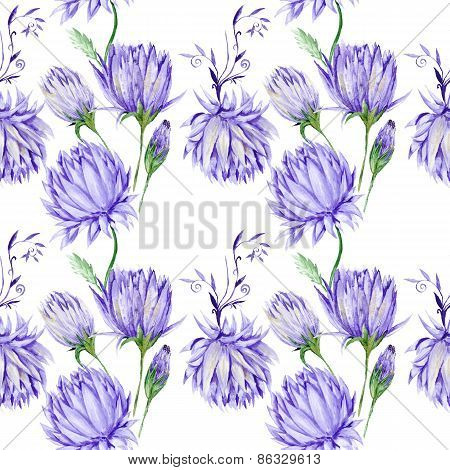 Creative Watercolor Purple Floral Pattern