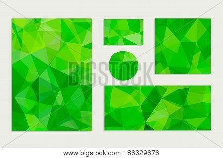 Set of Abstract Geometric Polygonal Backgrounds.