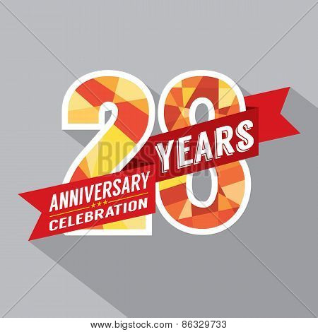 28Th Years Anniversary Celebration Design.
