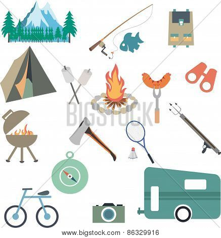 Vector Collection of Camping