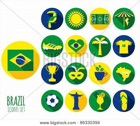 Brazil icon set.