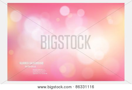 Pink Abstract Blurred Tone Light Background.